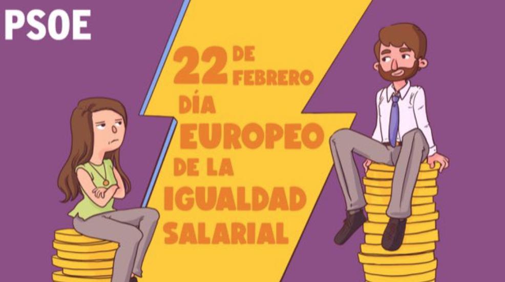 Manifiesto del PSOE con motivo del Día de la Igualdad Salarial. 22 febrero